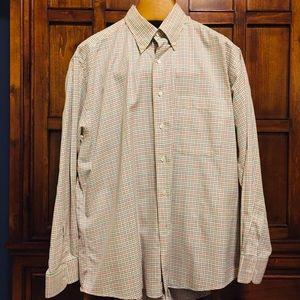 Burberry Button Down Dress Shirt - L